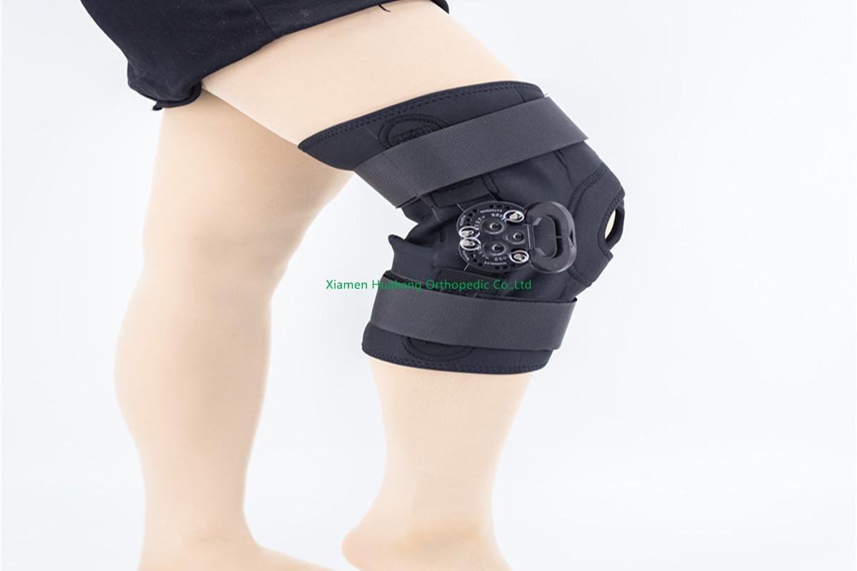adjustable knee braces with roam mechanism