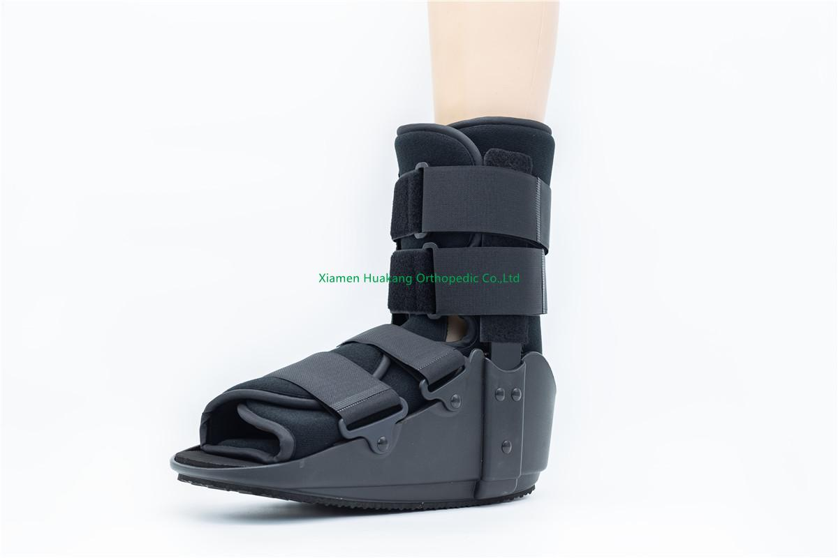 Short foam cam walking boot braces